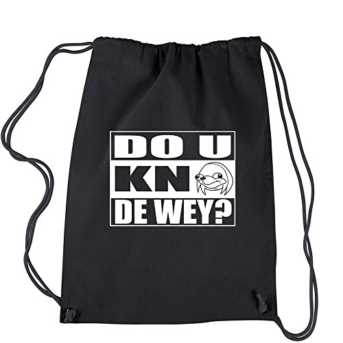 b8bca9bde2 Backpack Do You Know The Way Ugandan Knuckle Meme Black Drawstring Backpack
