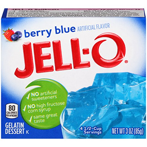 JELL-O Berry Blue Gelatin Dessert Mix (3 oz Box) (Best Grape Jello Shots)