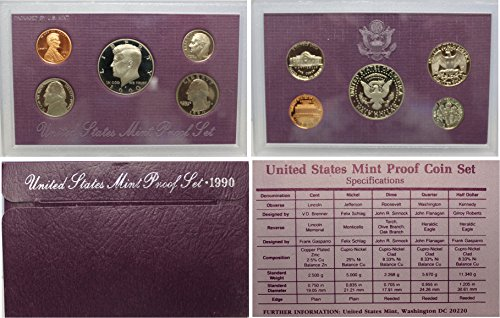 1990 S Proof set Collection Uncirculated US Mint