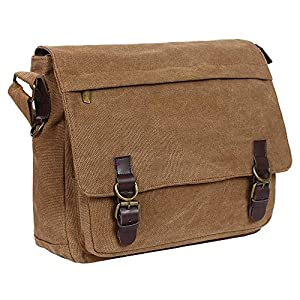 Handmade Canvas Messenger Shoulder Bag for men and Women by Rustic Town