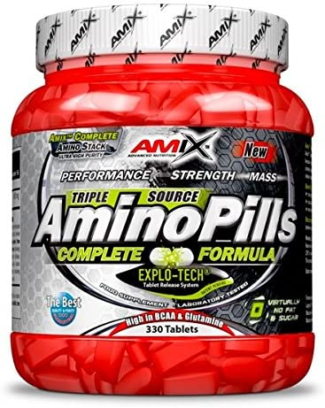 Amix Amino Pills 330 Tabl. 0.2 200 g: Amazon.es: Salud y ...