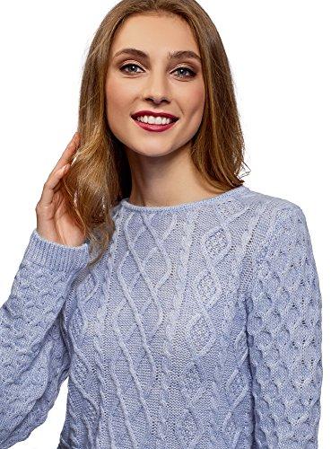 Tricot Femme Textur Ultra oodji en Pull 8OwFyq4