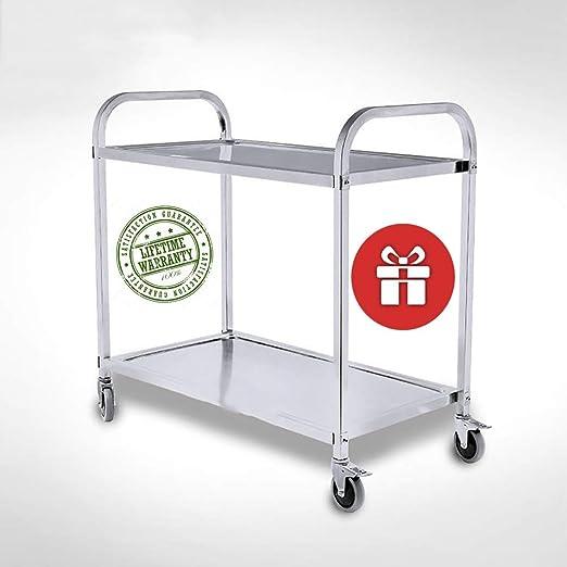 Amazon.com - YLFTC Narrow Kitchen Cart White Kitchen Cart ...