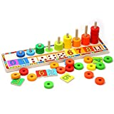 TOP BRIGHT Baby Learning Educational Wooden Arithmetic Toys for 3-36 Months
