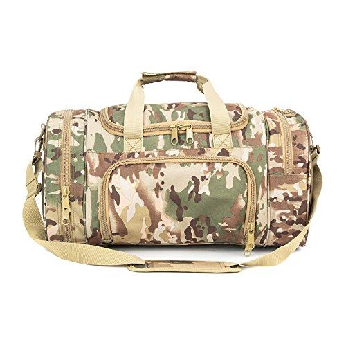 WolfWarriorX Military Tactical Duffle Bag, Large Storage Bag Luggage Duffle for Traveling, Gym, Vacation, Hiking & Trekking (OCP) by WolfWarriorX (Image #1)