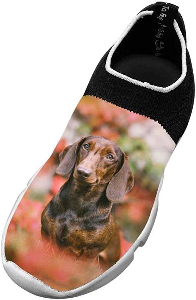 Sports Flywire Knitting Shoe For Unisex Children,Print Colorful Dog,