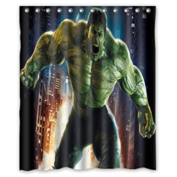 Scottshop Custom Superhero Hulk Shower Curtain High Quality Waterproof Polyester Fabric Bathroom Curtains 60quot