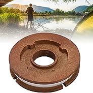 Fishing Wooden Spool,Fishing Line Storage Spool,Wooden Rig Spool,Fishing Line Storage Lure Rig Leader Holder F