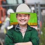 3 Pack - Sun Visor Hard Hat Sun Shield- Fitted with Ventilation Holes, Reflective Strip, Full Brim and Neck Shade