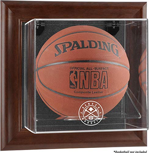 Sports Memorabilia Denver Nuggets Brown Framed Wall-Mountable Team Logo Basketball Display Case - Basketball ()