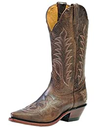 Boulet Western Boots Womens Cowboy Leather Selvaggio Wood 1692