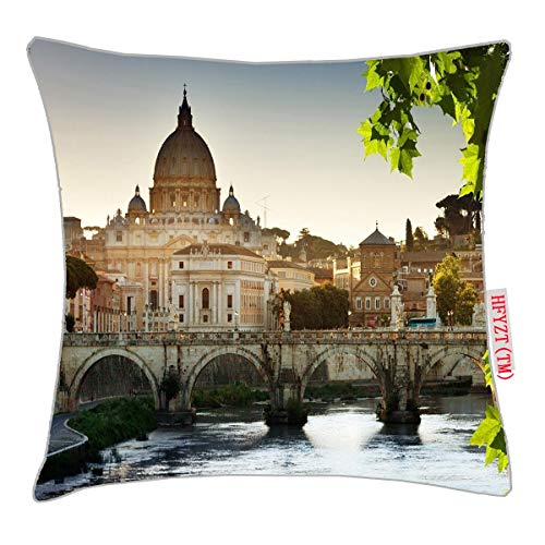 HFYZT Cityscape, Architecture, Rome, Italy Standard Throw Pillowcase 18X18 Inch