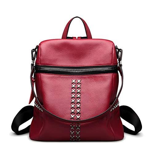 Grande Donna Pelle 2018 Zaino Tracolla A Rosso Capienza colore Estate Backpack In Gray Women's Casual Signore Nuova Borsa Primavera E q0B8wn1