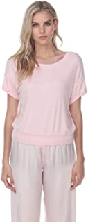 product image for PJ Harlow Mac Rib Knit Short Sleeve Tee with Banded Bottom