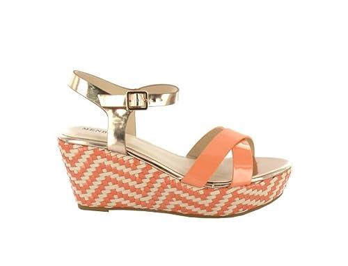 4464bd04535b MENBUR Women s Fashion Sandals Orange Salmon  Amazon.co.uk  Shoes   Bags