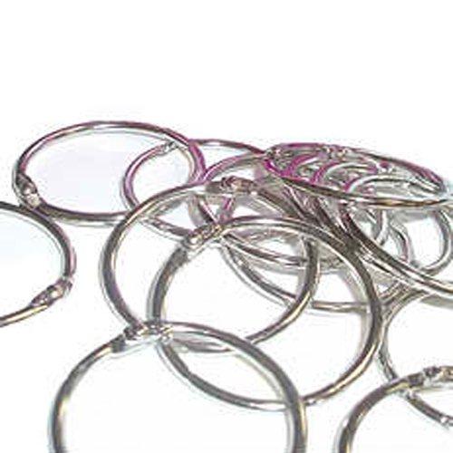 1-1/4'' Metal Loose Leaf Rings - 100pk