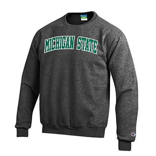 Champion NCAA Michigan State Spartans Men's Eco Power Blend Crew Neck Sweat Shirt, XX-Large, (20% Polyester Crewneck Sweatshirt)