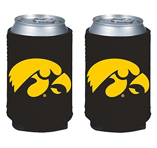 NCAA College 2014 Team Logo Color Can Kaddy Holder Cooler 2-Pack (Iowa Hawkeyes) ()