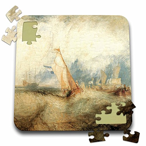 BLN Sailing Ships and Seascapes Fine Art Collection - Van Tromp, Ships at Sea by J. M. W. Turner - 10x10 Inch Puzzle (pzl_126839_2) ()