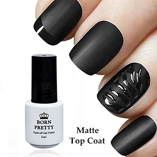 BORN PRETTY Matte Top Coat Soak Off UV Gel Nail Polish Finis
