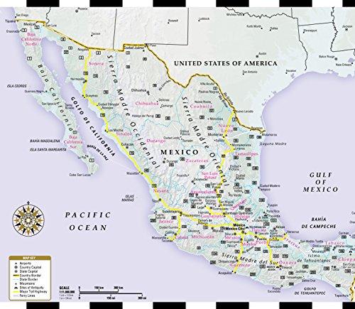 Streetwise Mexico City Map Laminated City Center Street Map Of Mexico City Mx