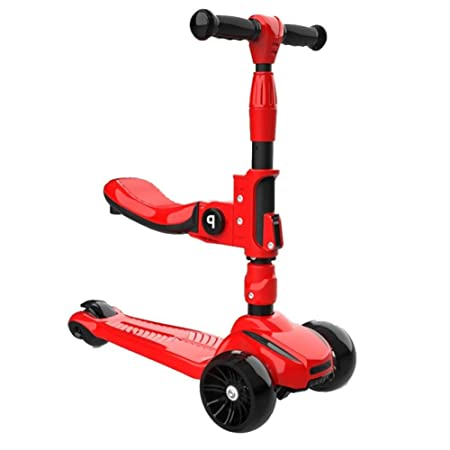 YJFENG Plegable Patinetes Scooter Altura Ajustable ...