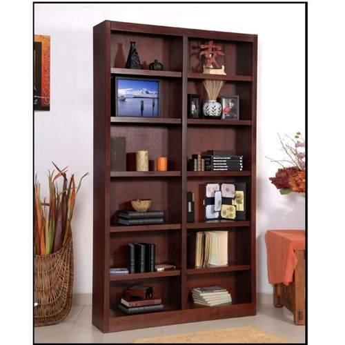Twelve Shelf Double Bookcase 84
