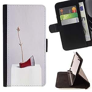Momo Phone Case / Flip Funda de Cuero Case Cover - Arte rojo del hacha de hielo abstracta moderna aleatoria - Apple Iphone 6 PLUS 5.5
