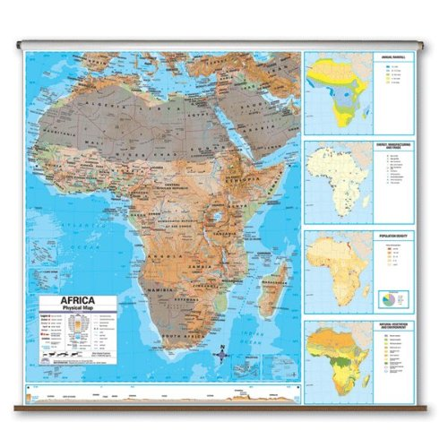 Africa Advanced Political Classroom Map on Roller w/ Brackets