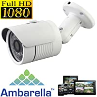 USG Sony + Ambarella DSP 2.4MP 1080P HD-IP Network Bullet Security Camera - 3.6mm Wide Angle Lens - Home/Business Video Surveillance - Outdoor/Indoor IP66 Weatherproof Vandalproof 24x IR LEDs