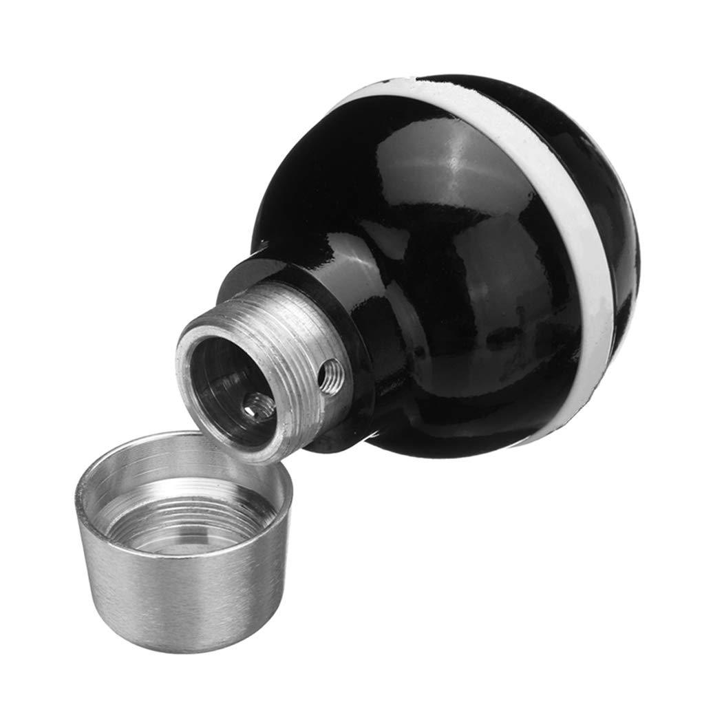 Aiming De Cambio de Marcha del Coche Perilla Resina Negro Bola de Billar 8 Forma Universal Manual Palanca Palo Shifter