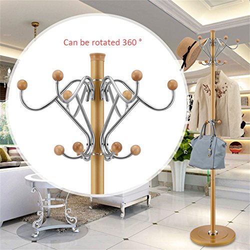 Stainless Steel 16 Hook Hat Coat Clothes Stand Rack - 8