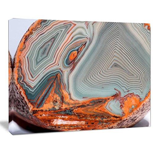 "Designart PT14364-20-12 Beautiful Lake Superior Agate - Modern Abstract Canvas Print 12"" H x 20"" W x 1"" D 1P"