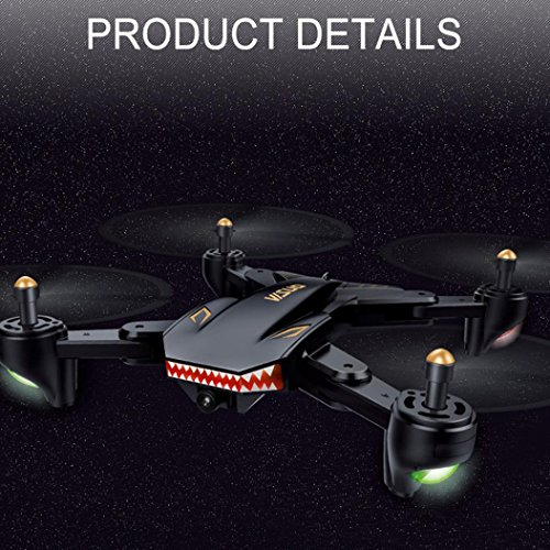 Huikai-FPV-WIFI-Drone-VISUO-XS809HW-with-120-FOV-Wide-Angle-720P-HD-Camera-Live-Video-Altitude-Hold-Hovering-Headless-Mode-Optical-Flow-Black