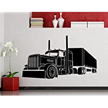 Big Truck Wall Decal Semi Truck Automobile Monster Car Vehicle Vinyl Sticker Home Nursery Kids Boy Girl Room Interior Art Decoration Any Room Mural Waterproof High Quality Vinyl Sticker (188xx) by Awesome Decals