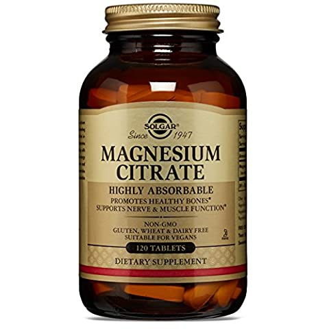 Solgar - Magnesium Citrate, 120 Tablets - Mag 250 Tabs