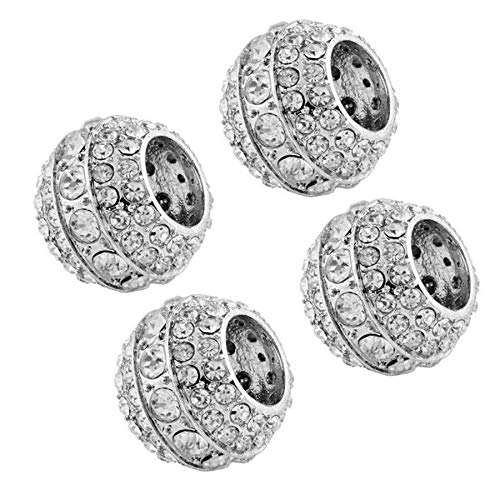 - FidgetKute 4Pcs Rhinestone Charms Diamond Bling Car SUV Crystal Headrest Collars Decoration