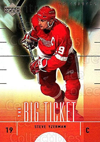 (CI) Steve Yzerman Hockey Card 2000-01 UD Reserve The Big Ticket 4 Steve ()