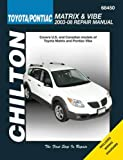 Toyota Matrix and Pontiac Vibe, 2003-2008 (Chilton's Total Car Care Repair Manuals)