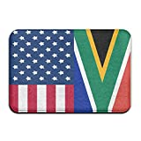 Youbah-01 Indoor/Outdoor Carpets Floor Door Mat With South Africa And American Flag Graphic For Patio Or Entryway