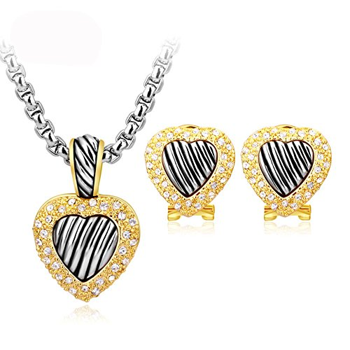 UNY New Brands Fashion Heart Women Jewelry Sets, Austrian Crystal,Necklace Jewelry Sets Best Gifts