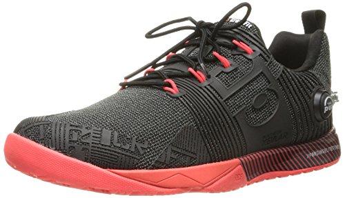 Reebok Women's Crossfit Nano Pump Fs-w Cross-Trainer Shoe, Black/Neon Cherry, 9.5 M US