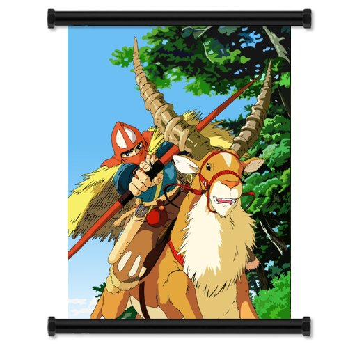 Princess Mononoke Anime Fabric Wall Scroll Poster (32