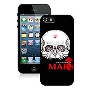 100% Brand New with High Quality Custom Design thirty seconds to mars skull Black Case For iPhone 5 Generation by runtopwell