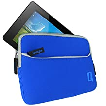 iGadgitz Blue Neoprene Sleeve Case Cover with Front Pocket for Acer Iconia One 7 B1-730HD & Iconia One 7 B1-750HD Tablet