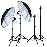 Linco Lincostore Zenith Photography/Video Studio Digital Lighting Kit with Silve Umbrellas Speedlite Bracket and Background Lights