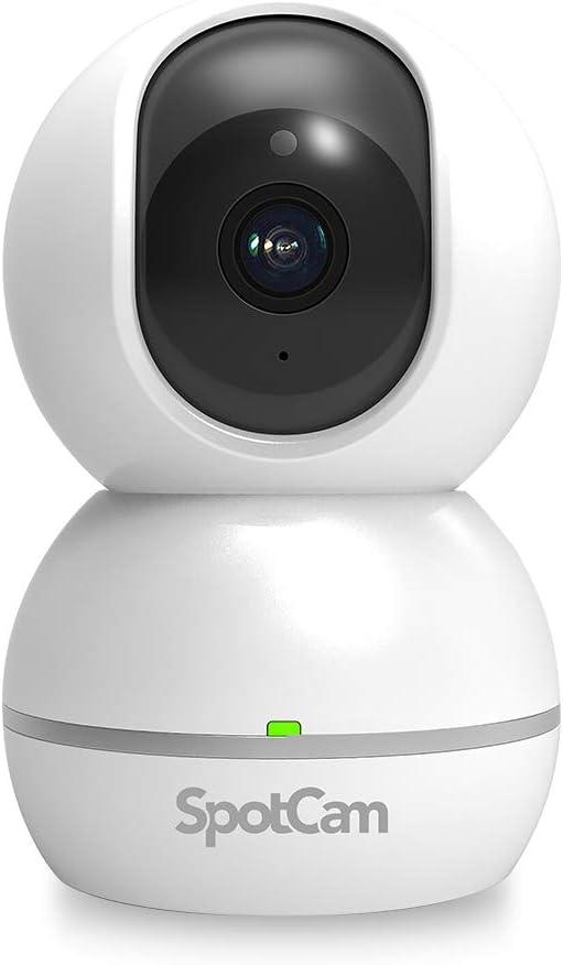 Spotcam Eva 2 Überwachungskamera Kabellos 1080p Fhd Innenbereich Bewegungs Und Tonalarm Ptz Schwenk Neigung Automatische Menschliche Tracking Mit Kostenloser Vollzeit Cloud Aufnahme Baumarkt