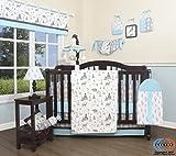 GEENNY Baby New Woodland Forest Deer 13 Piece Nursery Crib Bedding Set