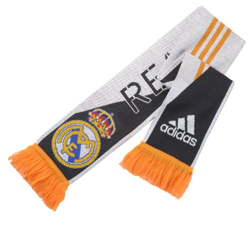 Adidas Real Madrid 3 Stripes Scarf White/Punjab