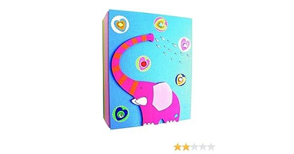 /Álbum de Fotos /Álbum de ni/ños Album 3D Elefante de Madera Kinderland